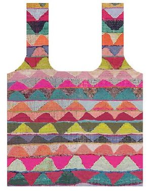 Fold Up Shopping Bag Africa Pink Olive green