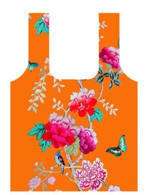Fold Up Shopping Bag Orange BIrd