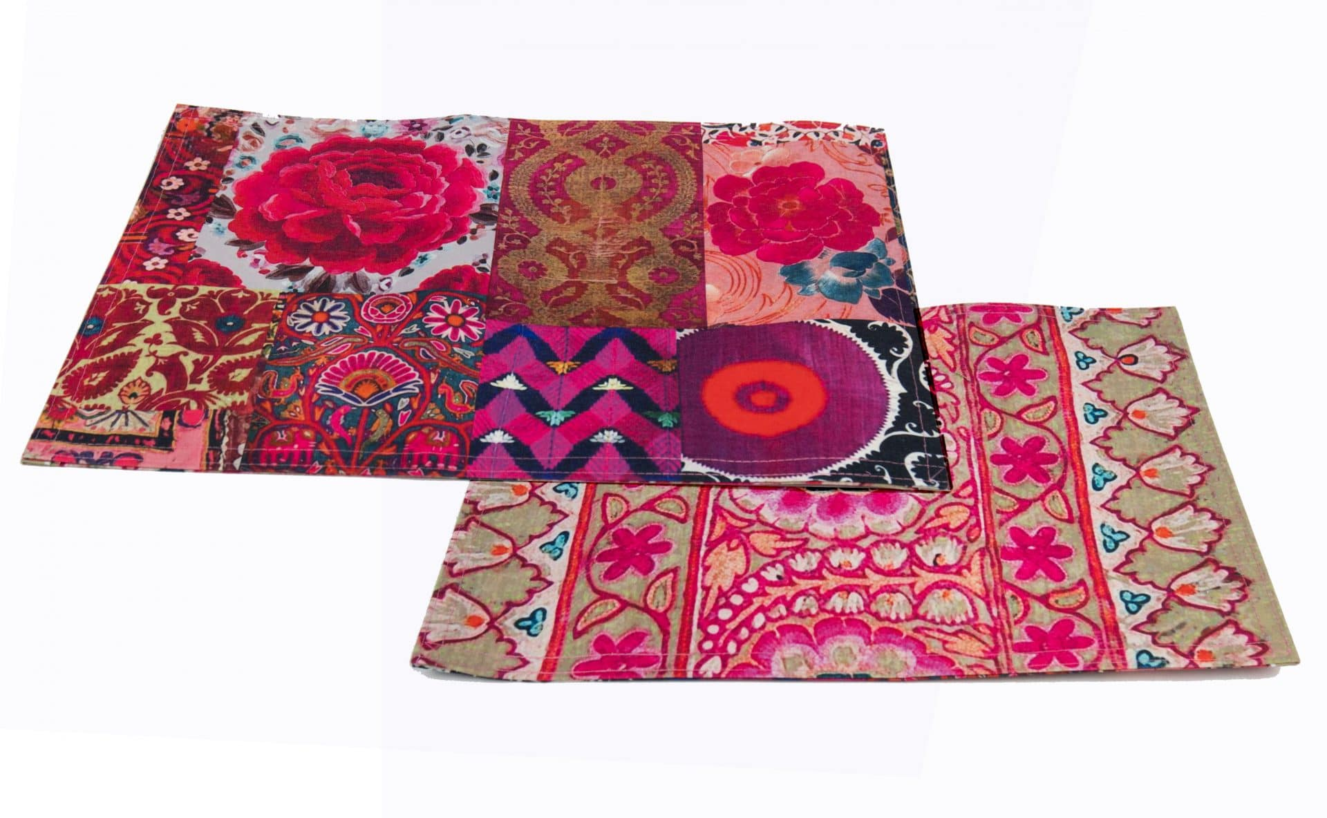 Canvas Placemat - Pink Embroidery pink patchwork